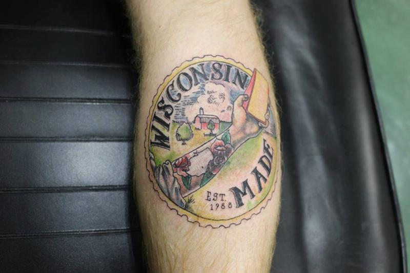 Wisconsin made by john c peterson tattoonow for Tattoo shops in wisconsin