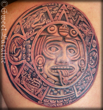 Aztec Tattoos on Paradise Tattoo Gathering   Tattoos   Family Heritage   Aztec Calendar