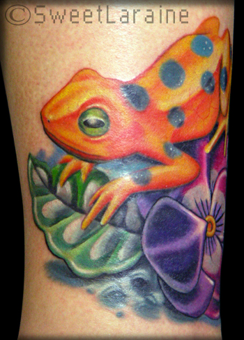 Beautiful Picture Nature on Tattoos   Tattoos   Nature Animal Lizard   Endangered Frog   Coverup