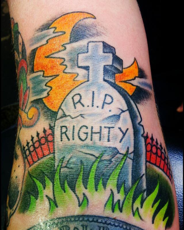 Righty by kelly edwards tattoonow for Element tattoo san antonio