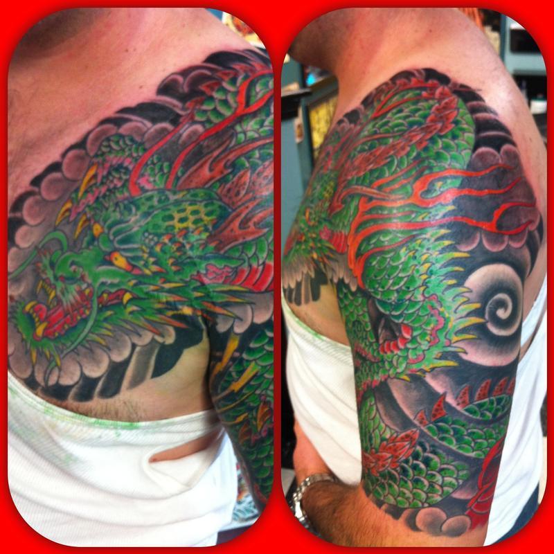 Dragon by jedidia tattoonow for Element tattoo san antonio texas