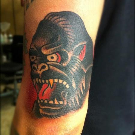 TattooNOW : Tattoos : Traditional Old School : Gorilla