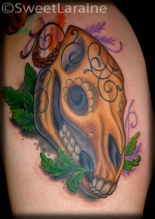 Paradise Tattoo Gathering : Tattoos : Sweet Laraine : Horse Skull