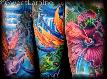 Sweet Laraine - Tropical Sleeve Details