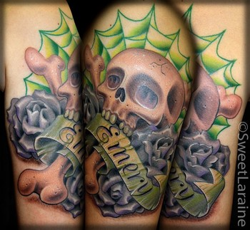 Element Tattoo Studio : Tattoos : Sweet Laraine : Emery Skull