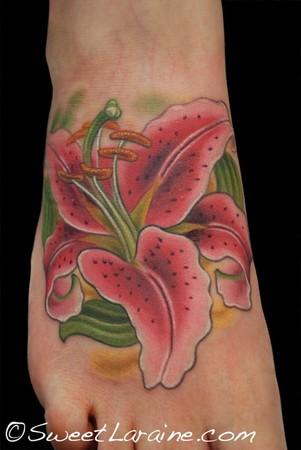 Sweet Tattoos on Paradise Tattoo Gathering   Tattoos   Sweet Laraine   Stargazer Lily