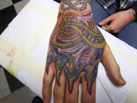Tattoos - Biomech Hand Tattoo - 68529