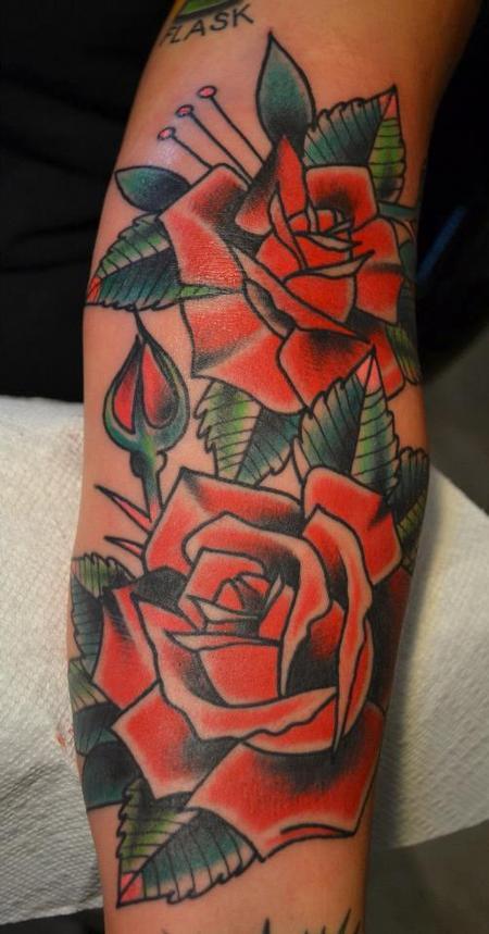 Tattoos - Roses - 74552