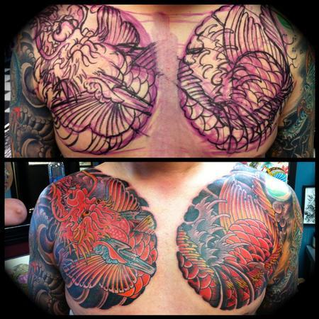 Tattoos - Koi-Dragon No Stencil - 68869