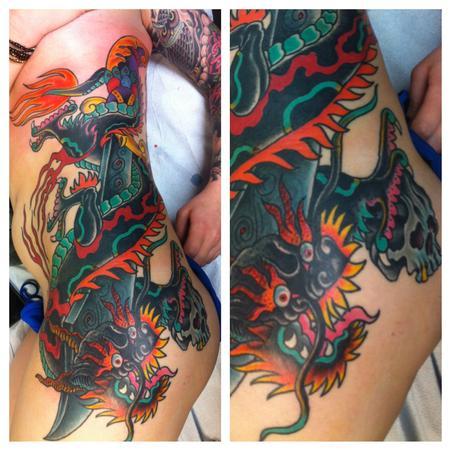 American dragon by jedidia tattoonow for Element tattoo san antonio