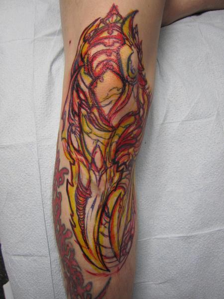 Biomech drawn on by josh tattoonow for Element tattoo san antonio
