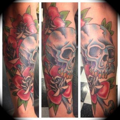 Rosie skull by william tattoonow for Element tattoo san antonio texas