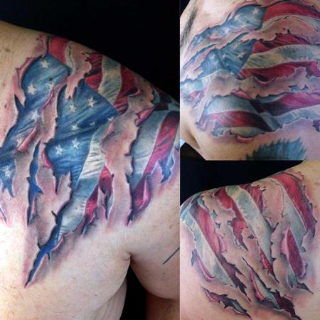 American Flag Skin Tear Design Thumbnail