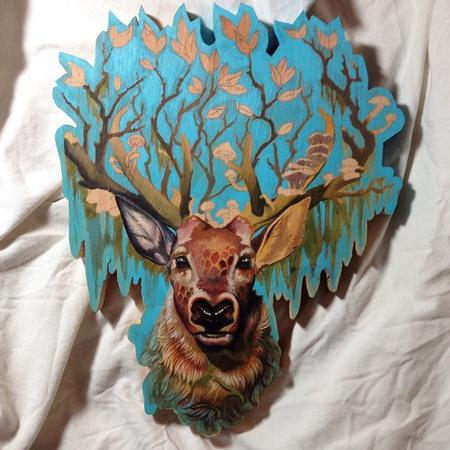 Tattoos - Deer Painting - 101341