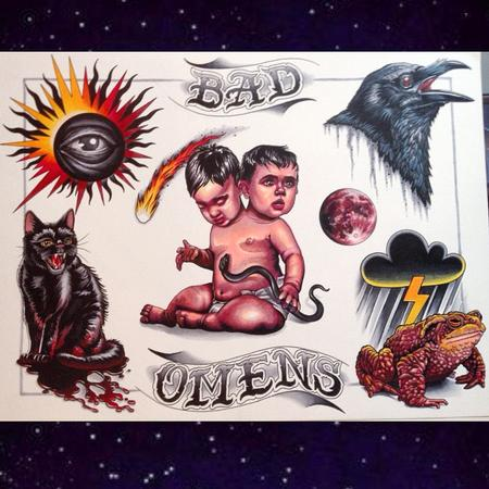 Tattoos - Bad Omens Flash Sheet - 101340