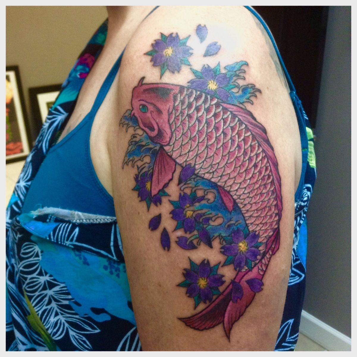 Koi fish tattoo by Cat