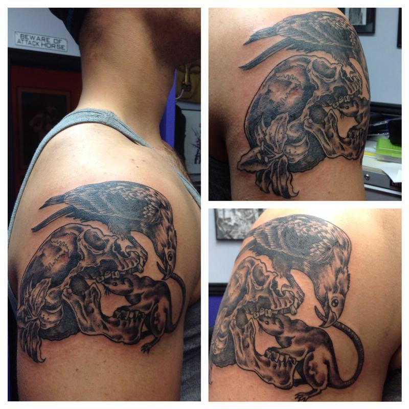 Vulture skull tattoo images galleries for Vulture tattoo meaning