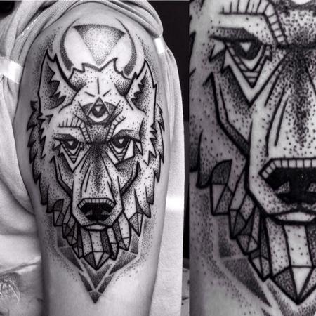 Tattoos - Geometric Wolf - 122110