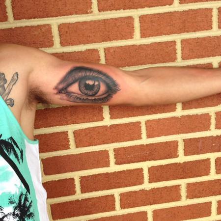 Tattoos - Realistic Eye - 122131