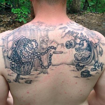 Tattoos - Disc Golf Back Piece - 122126
