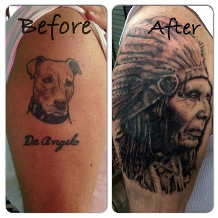 Tattoos - Native American Head - 122117