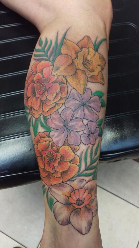 Tattoos - flowers - 111658