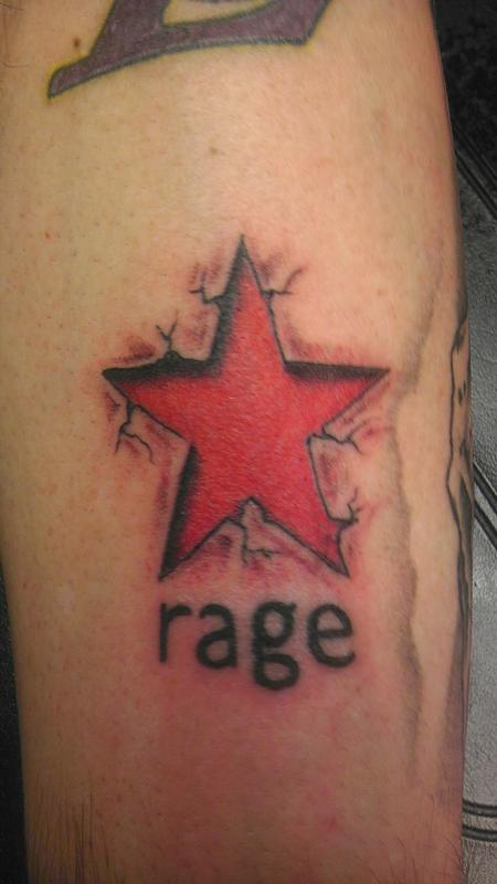 Tattoos - rage star - 87295