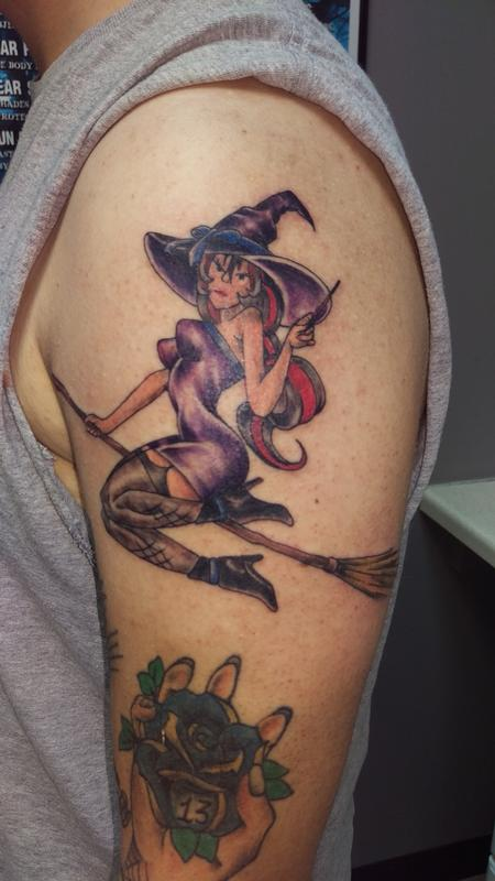 Tattoos - witch - 111678