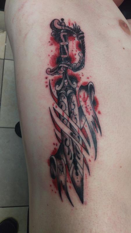 Tattoos - dagger - 116838