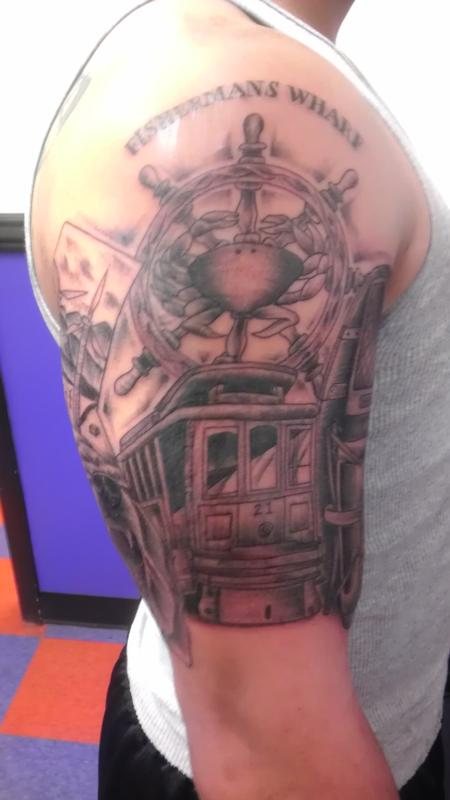 trolly Tattoo Design Thumbnail