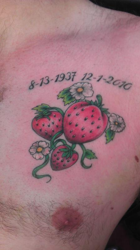 strawberry Tattoo Design Thumbnail
