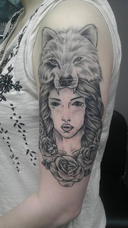 girl with wolf Design Thumbnail