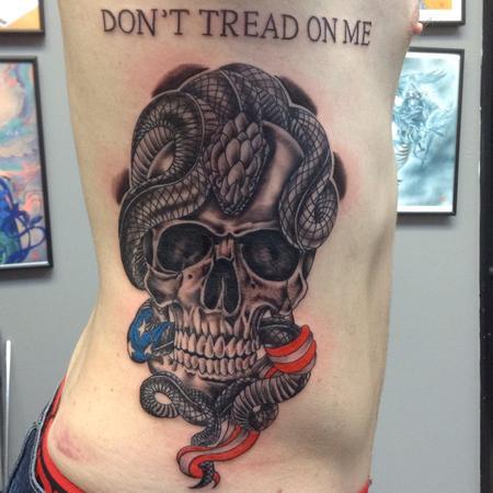 Skull Serpent  Tattoo Design