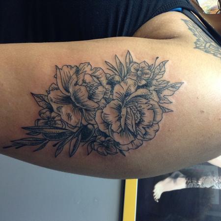Tattoos - Crosshatch Floral - 115876
