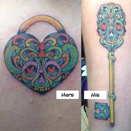 Tattoos - Lock & Key - 116929