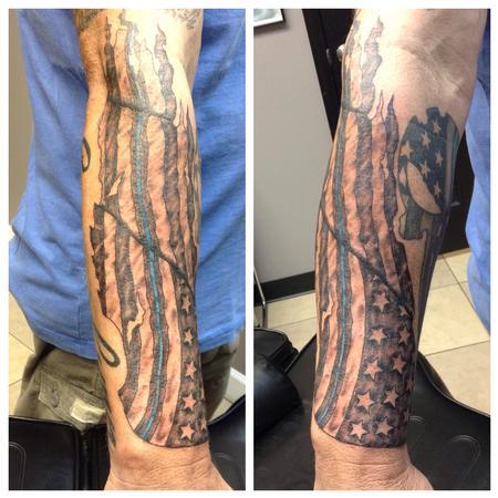 Tattoos - Tattered Flag - 122162