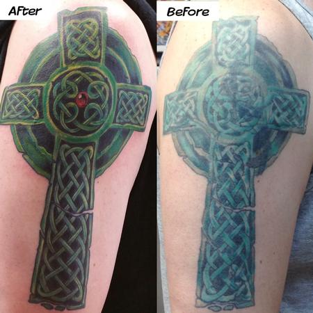 Tattoos - Irish Coverup - 127566