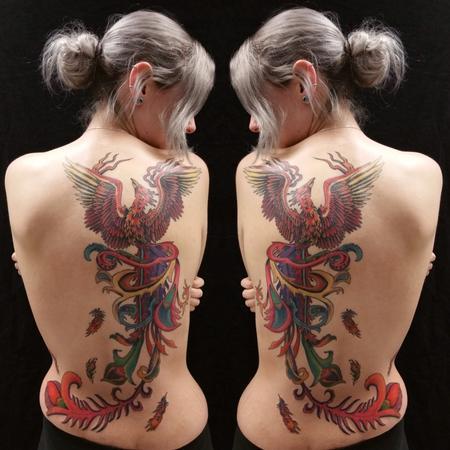 Tattoos - Art Deco Phoenix - 127567