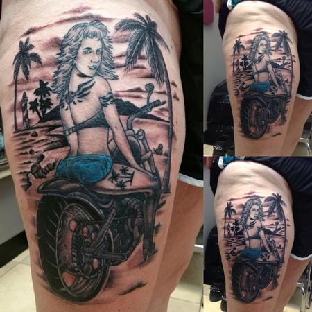 Tattoos - Biker Babe - 127576
