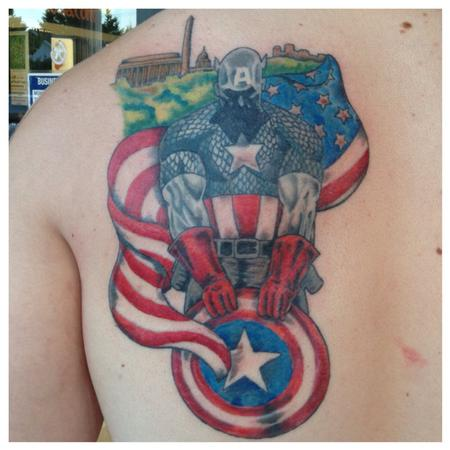 Tattoos - Captain America - 95561