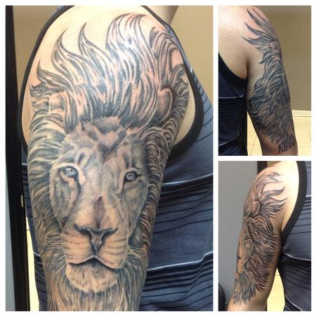 Tattoos - Lion - 99109