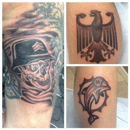 German Skulls Tattoo Design Thumbnail