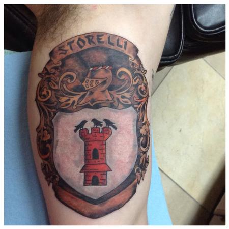 Bronze Crest Tattoo Design Thumbnail