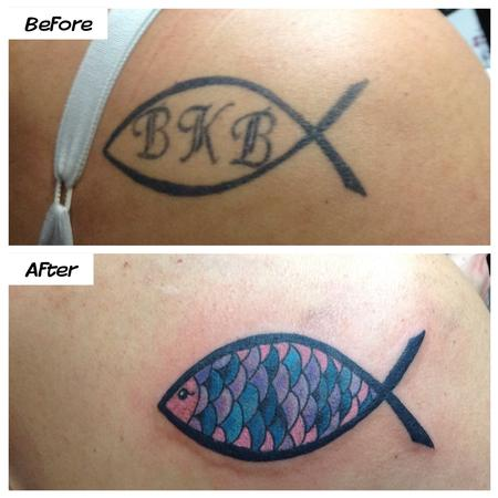 Tattoos - Jesus Fish - 101734