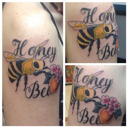 Honey Bee Tattoo Design Thumbnail