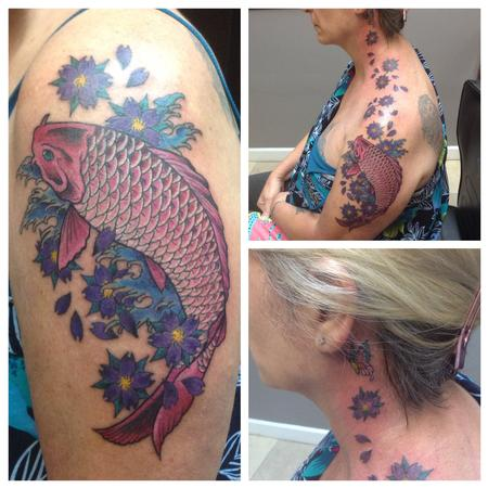 Pink Koi Tattoo Design Thumbnail