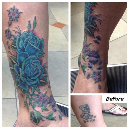 Tattoos - Electric Blue Roses - 104946