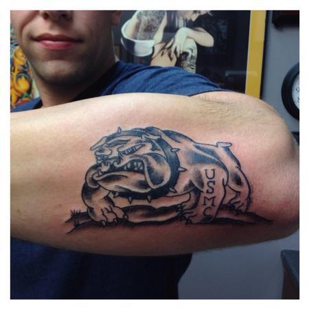 Tattoos - Vintage Bulldog  - 105033