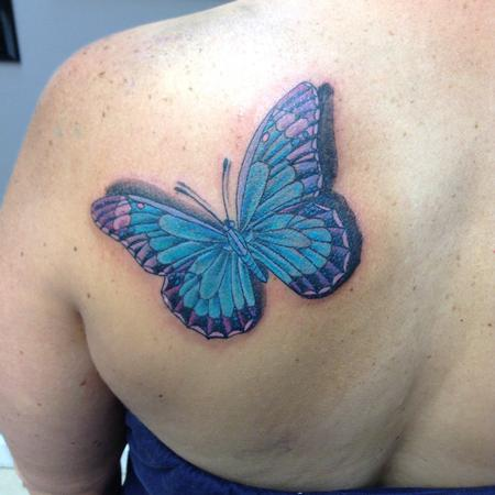 Tattoos - Pastel Butterfly  - 106696