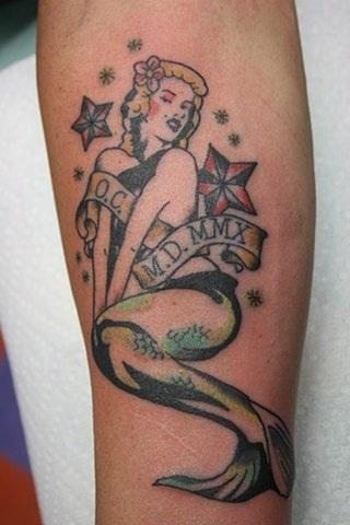 Tattoos - Marilyn Mermaid - 82639